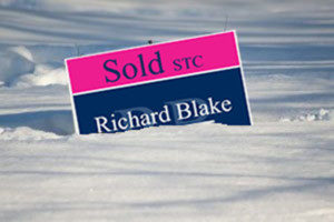 A forsale Board is a 24-7 Sales person - Even in the Winter